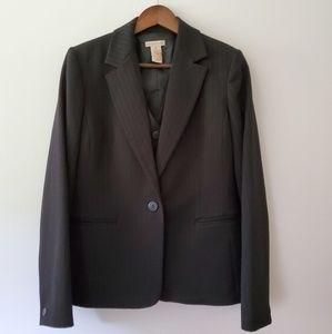 Apostrophe black suit blazer vest pants size 12/14